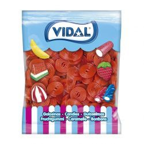 Discos Rojos Regaliz Fresa VIDAL 1 Kg