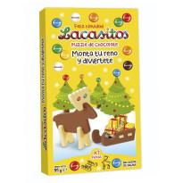 Puzzle de Chocolate RENO y TRINEO LACASITOS 91 gramos