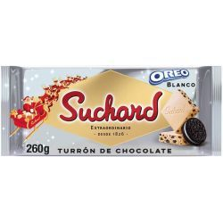 Turrón Chocolate Blanco y Galleta Oreo  SUCHARD 260 Gr