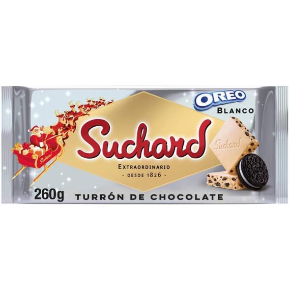 Turrón Chocolate Blanco y Galleta Oreo  SUCHARD 260 Gr