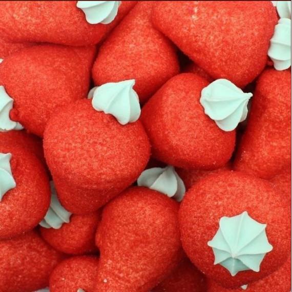 Fresas Rojas Marshmallow  46 Unidades