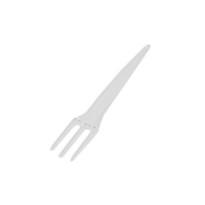 Mini tenedor Plástico  1000 Unidades