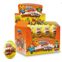 SUPER ZINGS  Huevos de Chocolate con Sorpresa  24 Unid