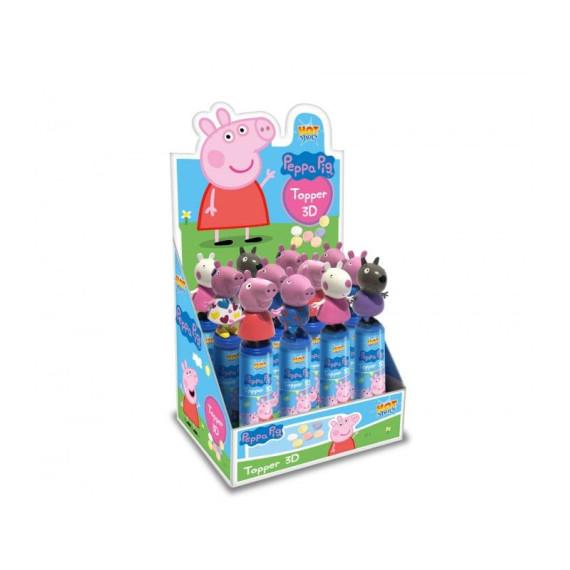 Peppa Pig Topper 3D Figura + Caramelo Comprimido 12 Unidades