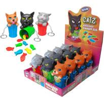 CATZ Llavero Gatito con Cubo + Peces Caramelo 12 Unidades